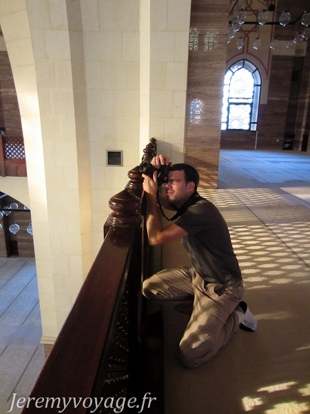 Prise de photo dans la mosquée