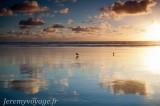Coucher de soleil sur Baylys Beach