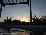 Coucher de soleil sur Rotorua depuis un bon bain chaud :-)