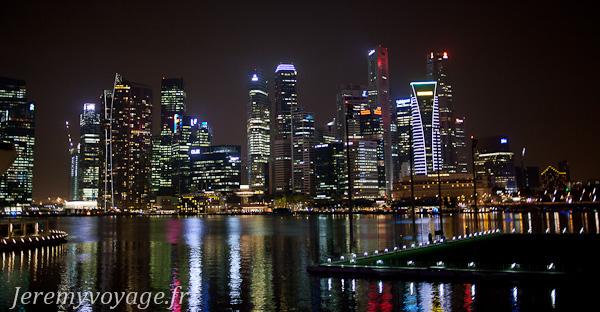 Vue sur les immeubles depuis Marina Bay